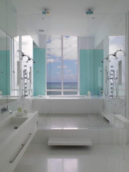 contemporary beach house bathroom Jennifer Post designed apartment at The Bath Club, Miami Beach - Contemporary - Bathroom - miami