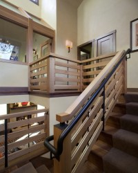 Stairwell landing view - Modern - Staircase - denver - by ...
