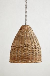 Basket-weave Pendant Lamp - Farmhouse - Pendant Lighting ...