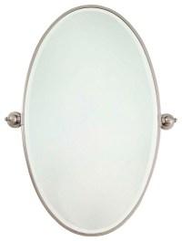 Bathroom Mirrors Brushed Nickel : Awesome Pink Bathroom ...