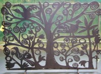 Tree of Life Fireplace Screen - Traditional - Fireplace ...