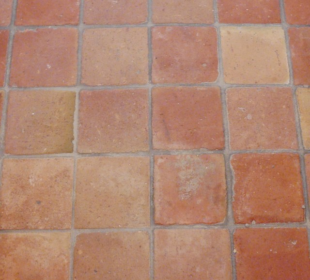 French Terracotta Red Tiles Square  Eclectic  Wall And