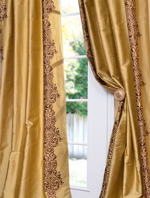moroccan style living room accessories ideas uk rowena gold dust silk curtain - traditional curtains ...