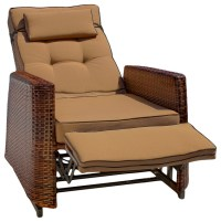Coastal Style Recliners With Wicker