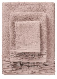 Pleated Towel Set, Dusty Rose - Contemporary - Bath Towels ...