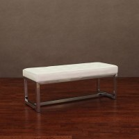 white leather bench liberty modern white leather bench ...