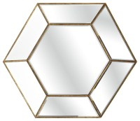 Crisanto Hexagon Mirror - Traditional - Wall Mirrors - by ...