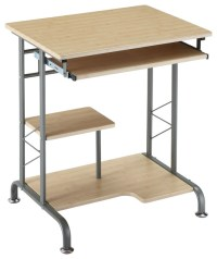 Metro-Living Space Saver Computer Desk in Natural Finish ...