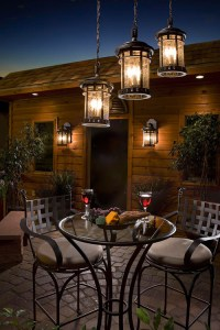 Outdoor hanging lanterns