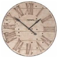 Uttermost Harrington 36-inch Wooden Wall Clock - Farmhouse ...