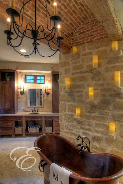 Tuscan Farmhouse  Mediterranean  Bathroom  houston  by