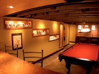 Sports Themed Man Cave - Traditional - Basement ...