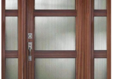 Modern Front Door With Sidelights