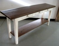 White Console Table With Shelf - Farmhouse - Side Tables ...