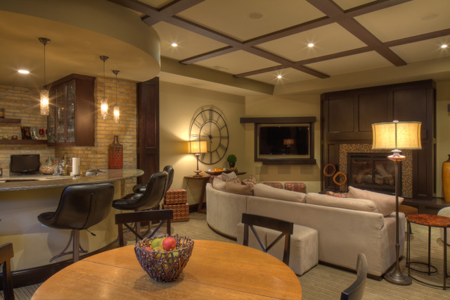 Basements  Transitional  Basement  milwaukee  by udvarisolner design company
