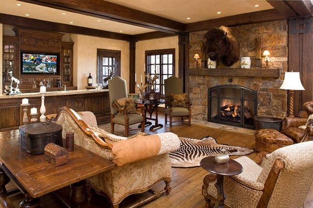 country living rooms with fireplaces red furniture in room mountain house conversation area - traditional family ...