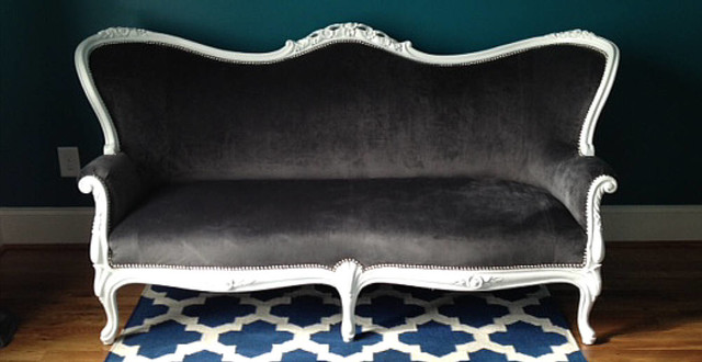 Queen Anne Style Furniture Pair Of Queen Anne Style Orange Crush
