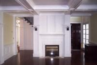 Wood Trim Fireplace