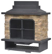 outdoor wood burning fireplace kits k