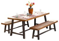 Bowman Picnic Table Set - Rustic - Outdoor Dining Sets ...