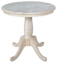 Unfinished 30-inch Round Pedestal Table - Contemporary ...