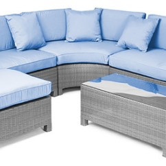 6pc Outdoor Patio Garden Wicker Furniture Rattan Sofa Set Sectional Grey Toko Bed Inoac Di Bandung Reef 5 Piece - ...