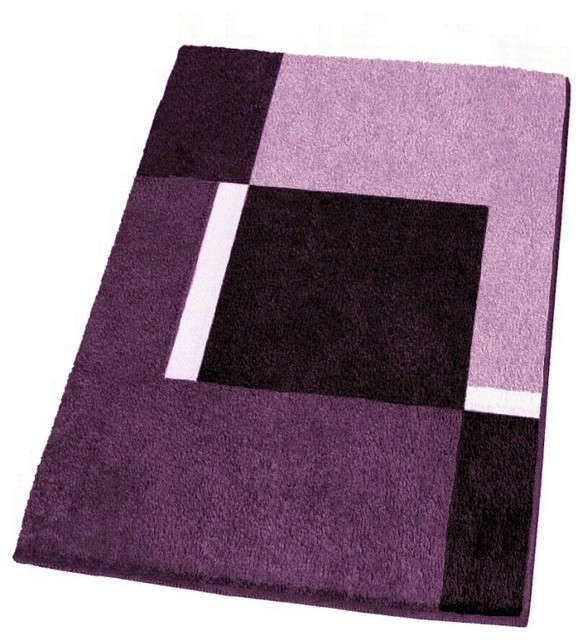 Modern NonSlip Washable Purple Bath Rugs Large  Modern  Bath Mats  other metro  by Vita Futura