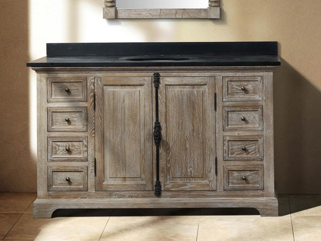 56 Ceprano Single Bath Vanity  Driftwood  Transitional