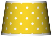 Mini Dots Yellow Tapered Lamp Shade 13x16x10.5 (Spider ...