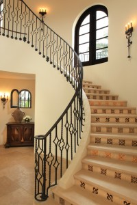 Paradise Valley Spanish Colonial mediterranean-staircase