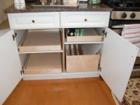Pull Out Shelves and Pull Out Tray Bin - Kitchen Drawer ...