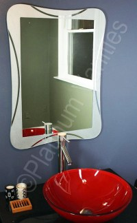 Modern Bathroom Silver Glass Mirror