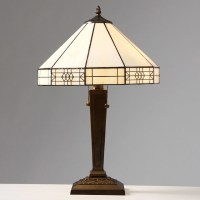 Tiffany-style Mission-style White Table Lamp ...