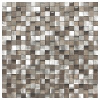 Eden Mosaic Tile 3D Silver And Pewter Aluminum Square ...