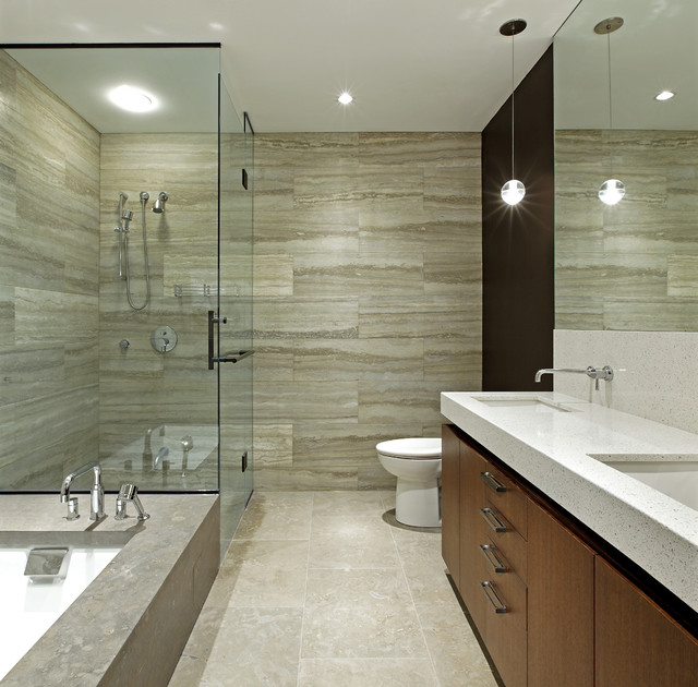 Penthouse Loft Renovation  Modern  Bathroom  Toronto