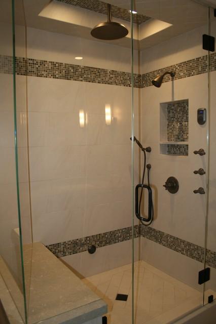 Residential Steam Shower  Modern  Bathroom  orange county  by Venture One Design Inc