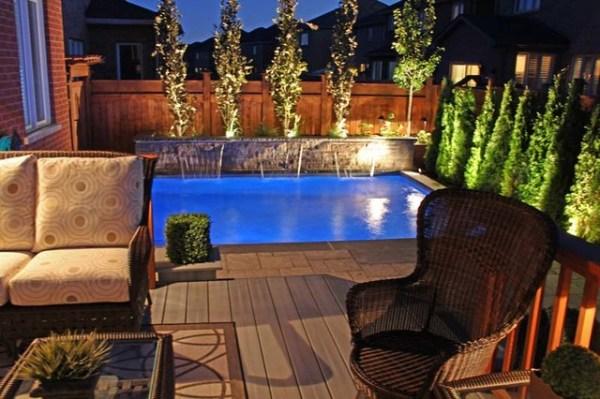 custom plunge pool & landscaping