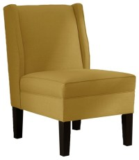 Skyline Furniture Linen Wingback Chair, French Yellow ...