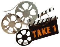 Hollywood Cinema Style Metal Wall Art Statue Film Reel ...