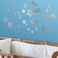 Mirrored Shooting Star Wall Decals - Kids Mirrors - san ...