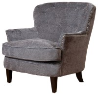 Melford Royal Vintage Design Upholstered Arm Chair, Grey ...
