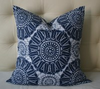 Decorative Pillow Cover - Indoor/Outdoor Pillow - Navy ...