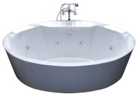 Venzi Sole 34 x 68 Oval Freestanding Whirlpool Jetted ...