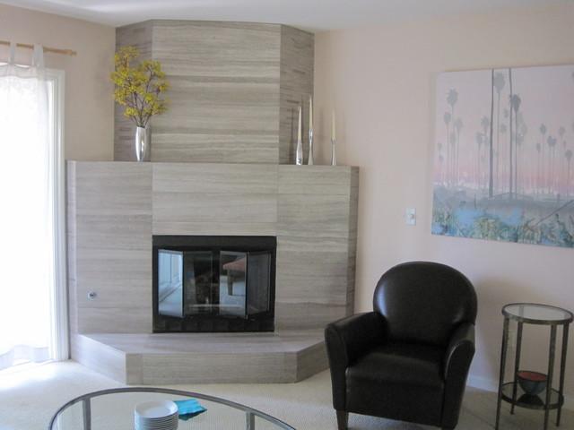 Fireplace renovation  Contemporary  Living Room  san diego