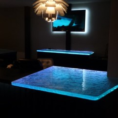 Changing Countertops In Kitchen Memory Foam Runner Inspired Led Color Rgb Illuminated Glass Counter ...