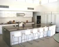 Large Kitchen with Huge Island - Modern - Kitchen - los ...