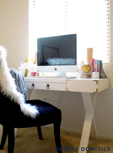 DIY Campaign Style Desk  Contemporary  Home Office
