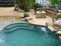 Masonry and Stone Work boulder fire pit pool patios ...