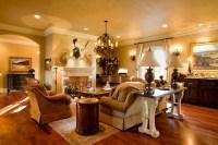 English Countryside Manor - Traditional - Living Room ...