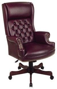 Deluxe High Back Traditional Executive Office Chair ...